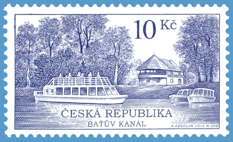 Poštovní známka Baťův kanál  1